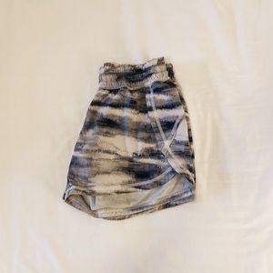 Athleta tie-dye/watercolor print athletic shorts